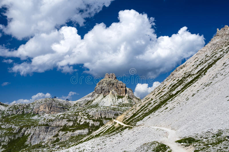 Sexten Dolomites in South Tyrol, Italy stock photo