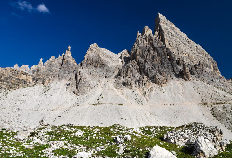 Sexten Dolomites in South Tyrol, Italy royalty free stock photos
