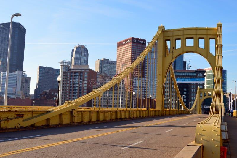 Sexto puente de la calle, Pittsburgh imagen de archivo libre de regalías