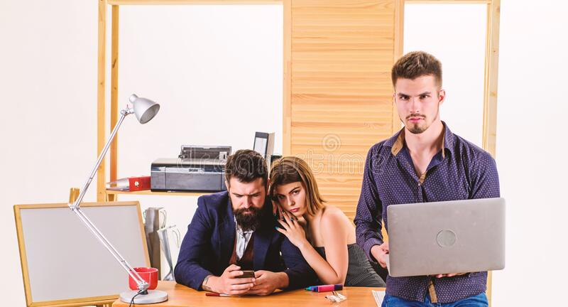 Sexual attraction. Stimulate sexual desire. Sexual attention. Making career in male club office. Woman working in mostly stock photography