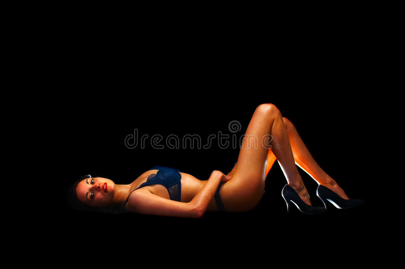 Sexual flirt royalty free stock image