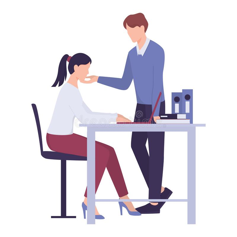 Free Sexual Harassment In Workplace. Assault And Abuse Behavior. Stock Photography - 174298742