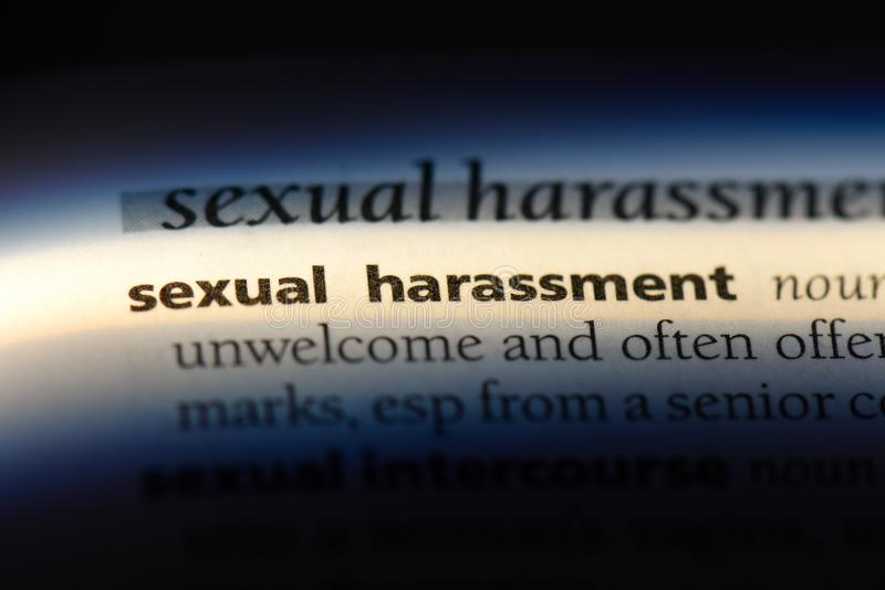 sexual harassment royalty free stock photo