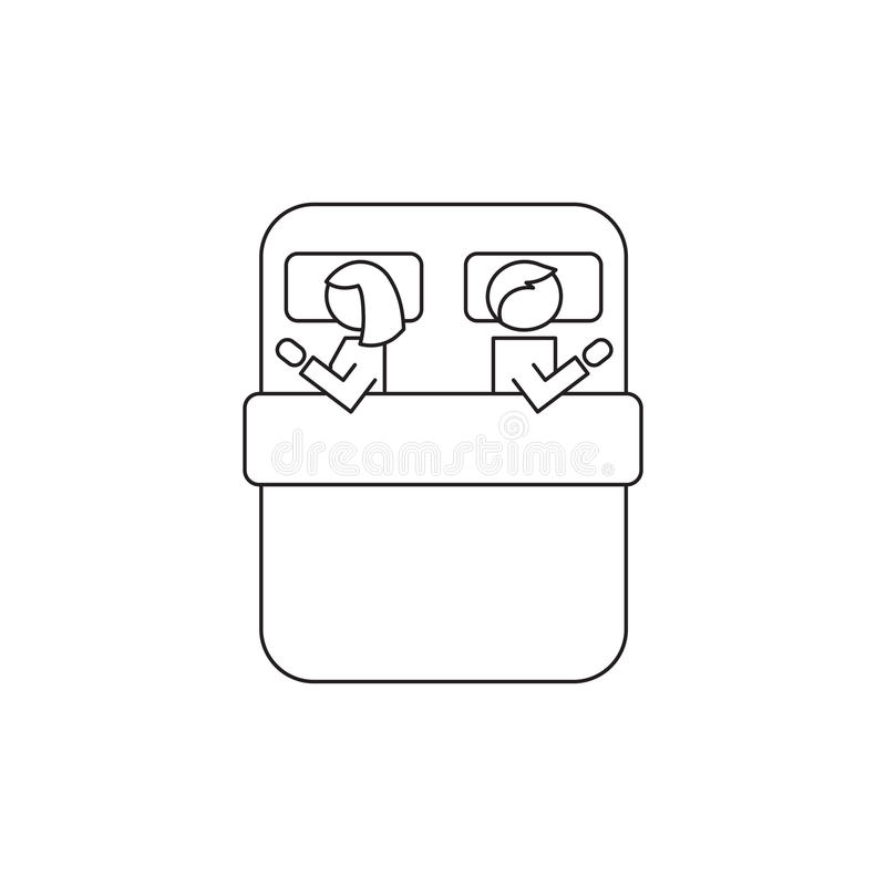Sexual problems line icon royalty free illustration