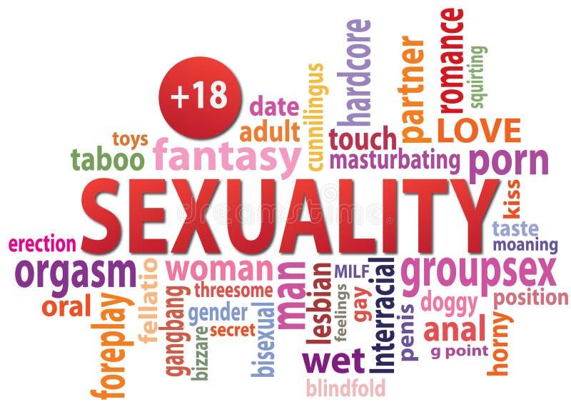 Sexualitetetikettsmoln stock illustrationer