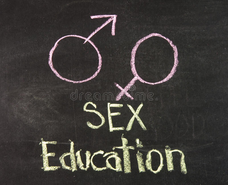 Sexualundervisning royaltyfria bilder