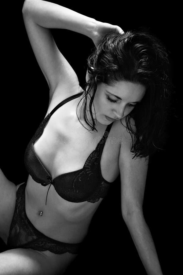 sexuell brunett arkivfoton