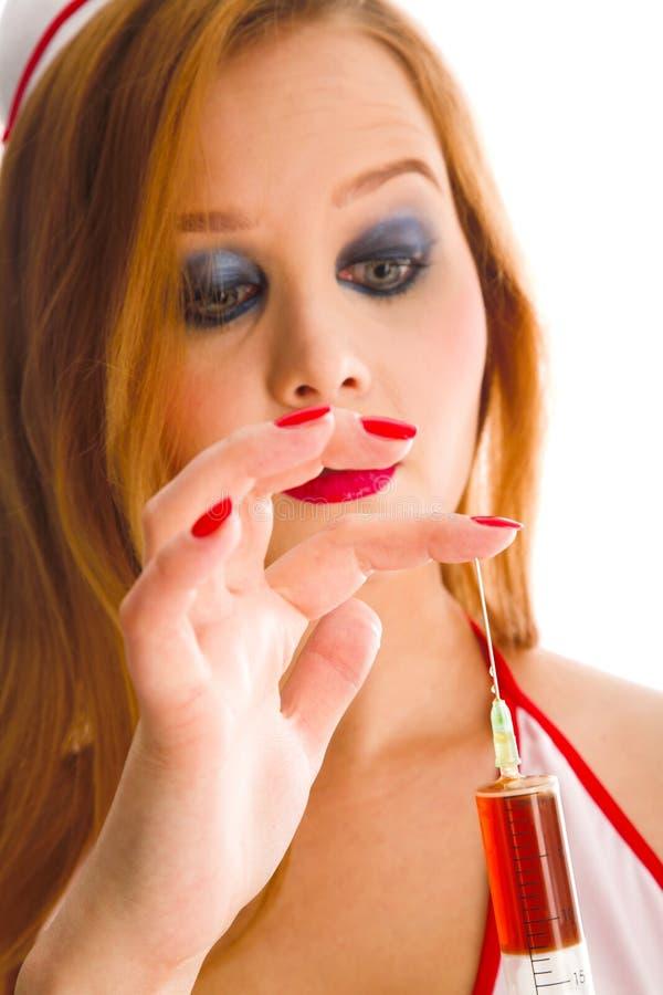 sexuell sjuksköterska fotografering för bildbyråer