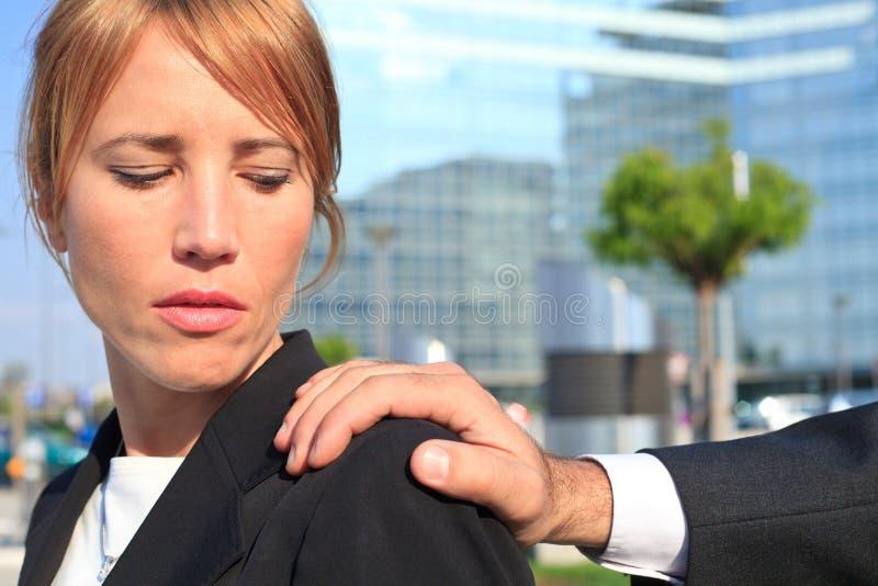 Sexuelle Belästigung stockfotografie