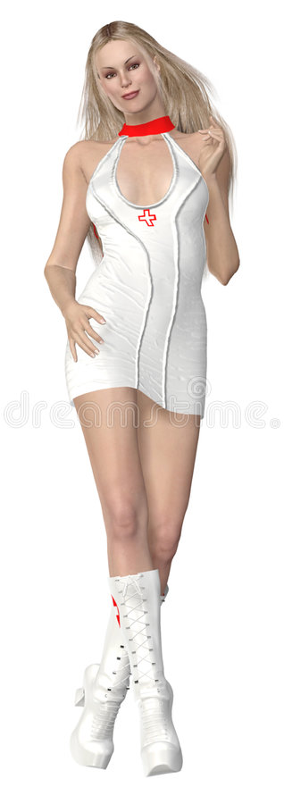 3d rendered nurse royalty free stock images