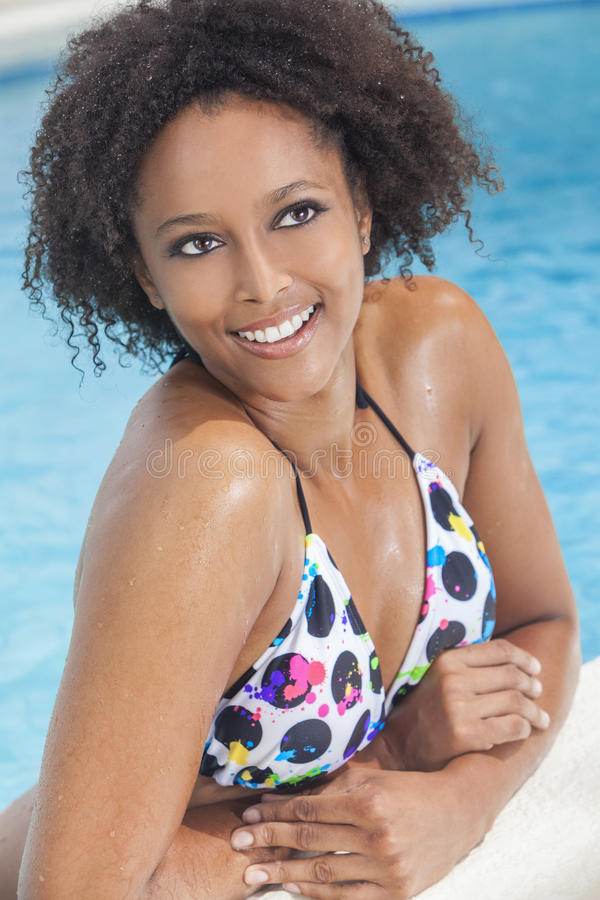 Download African American Woman Girl In Swimming Pool Royalty Free Stock Photo - Image: 27120025