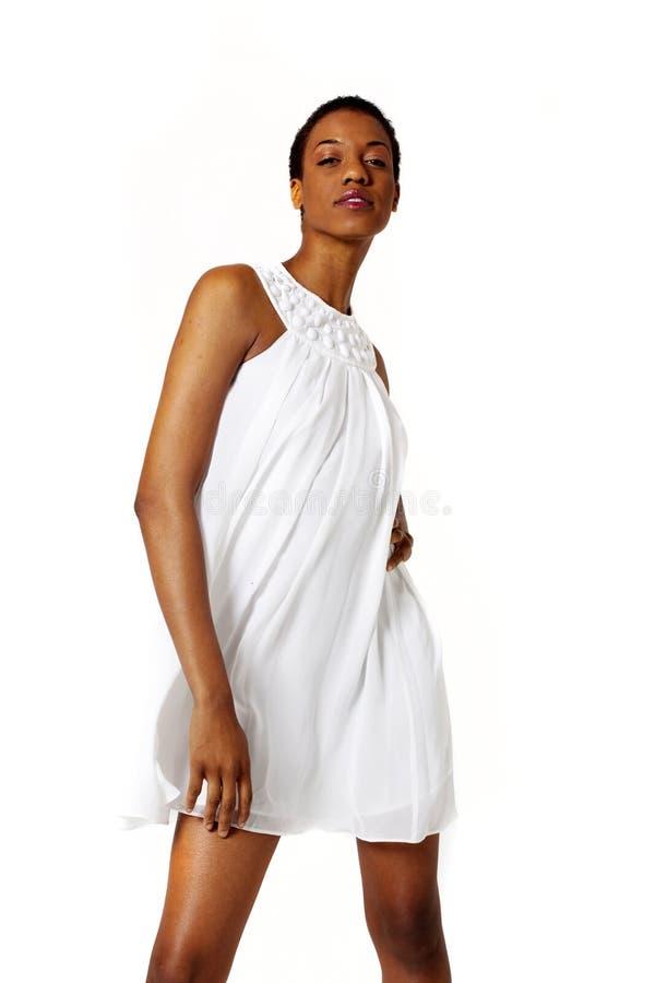 Sexy Afrikaanse Amerikaanse vrouw royalty-vrije stock foto