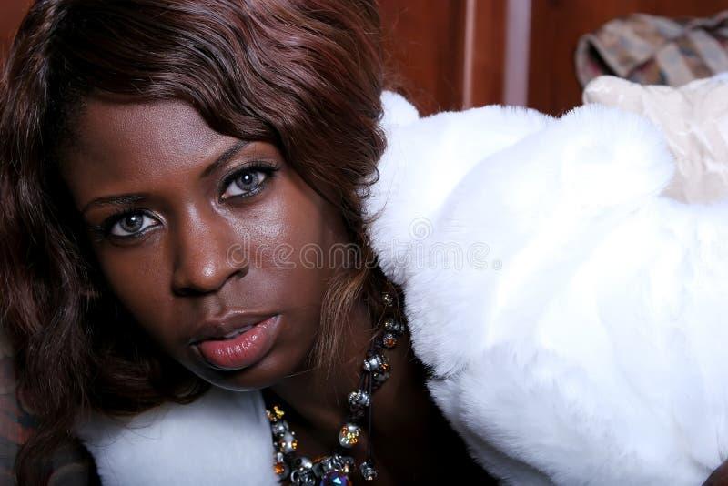 Sexy Afrikaanse Amerikaanse vrouw royalty-vrije stock afbeeldingen