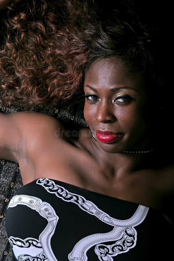 Sexy Afrikaanse Amerikaanse vrouw stock fotografie