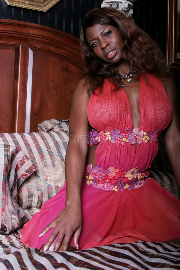 Sexy Afrikaanse Amerikaanse vrouw royalty-vrije stock foto's