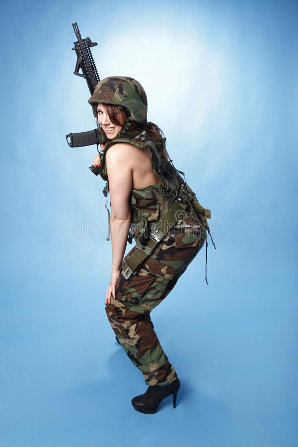 Download Army woman stock photo. Image of army, military, vest - 17403040