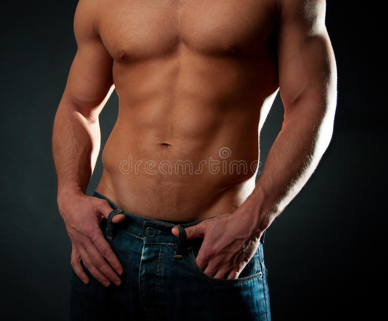 athletic torso stock photos