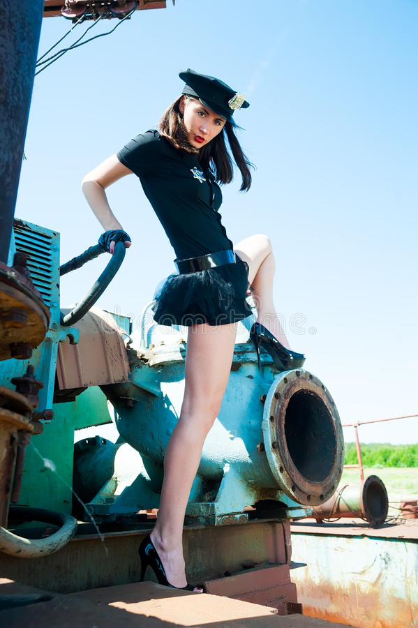 Download Attractive police woman stock photo. Image of industrial - 32757386