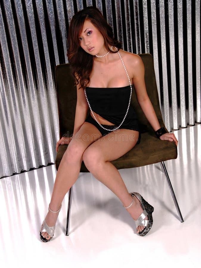 Sexy Aziatische Vrouw royalty-vrije stock foto