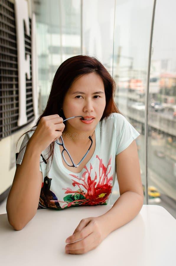 Sexy Aziatische Vrouw royalty-vrije stock afbeeldingen