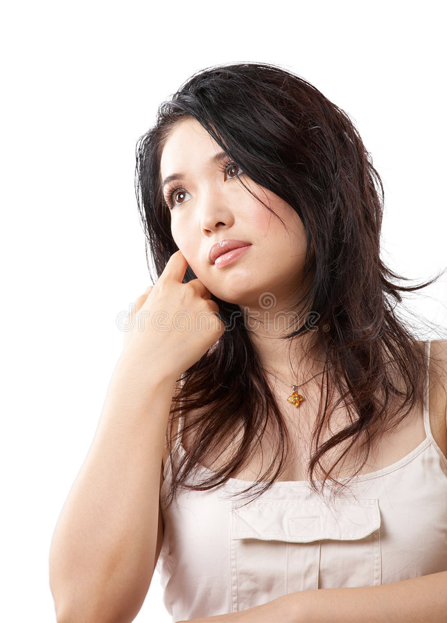 Sexy Aziatische vrouw stock foto's