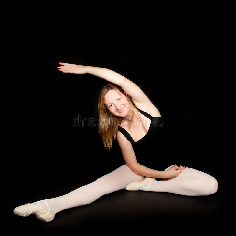 Download Ballerina Posing In Black Suit Stock Photography - Image: 17398182