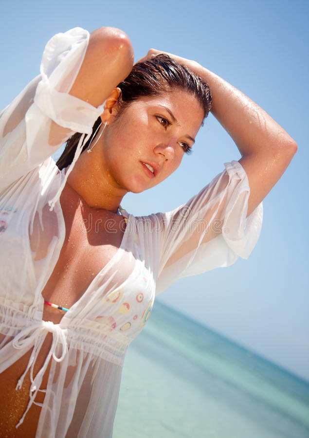 Download Beach woman stock photo. Image of tropical, water, flirtatious - 24793358