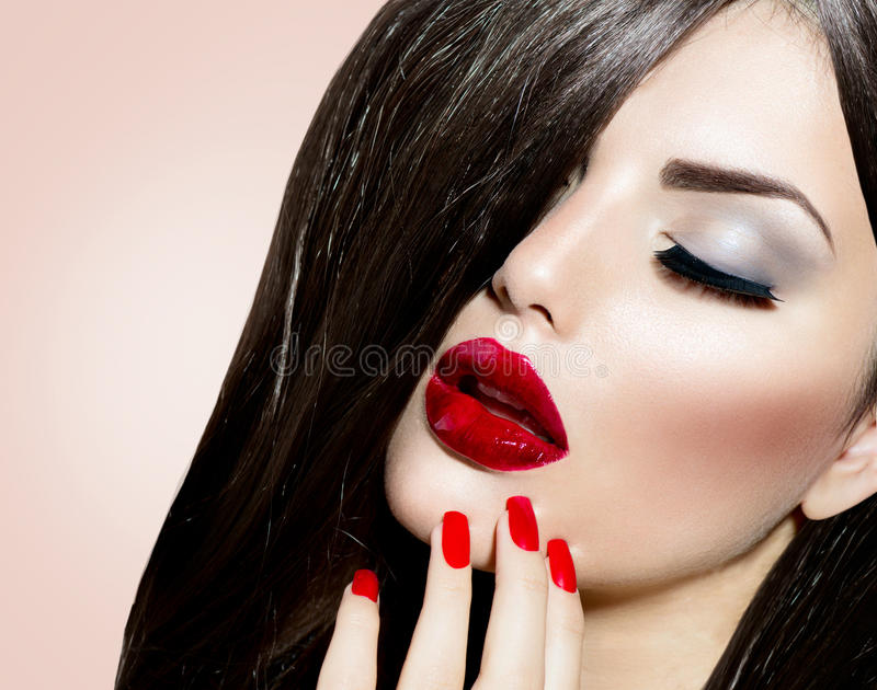 Download Beauty Girl stock photo. Image of hand, isolated, eyes - 34014528