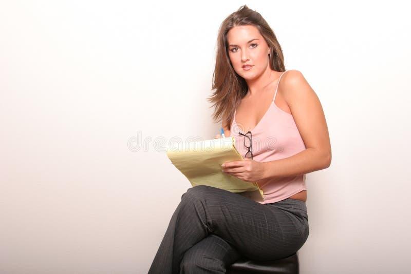 Sexy bedrijfsvrouw royalty-vrije stock afbeeldingen