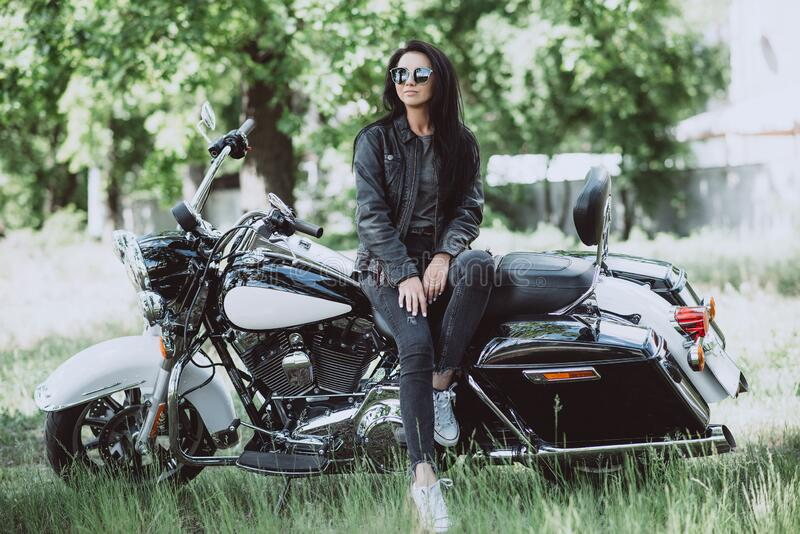 Girls hot biker Sturgis Bike