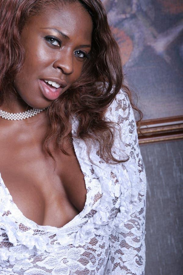 Black Woman Smiling Stock Image