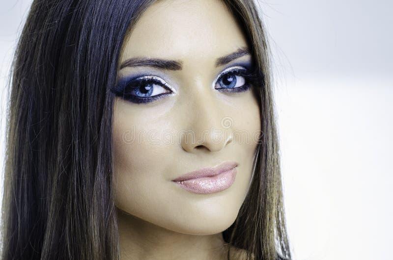 Sexy blauwe ogen royalty-vrije stock foto