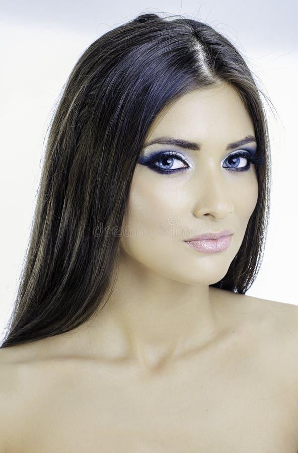 Sexy blauwe ogen royalty-vrije stock foto's