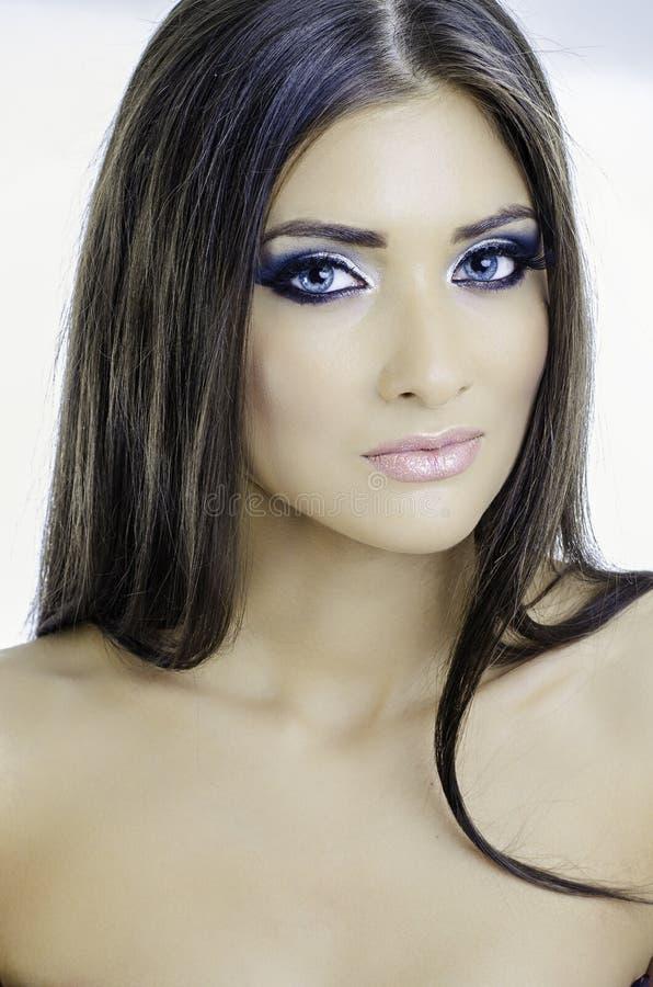 Sexy blauwe ogen royalty-vrije stock afbeeldingen