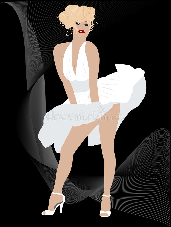 Download Blond stock vector. Image of illustration, elegance, design - 20794085