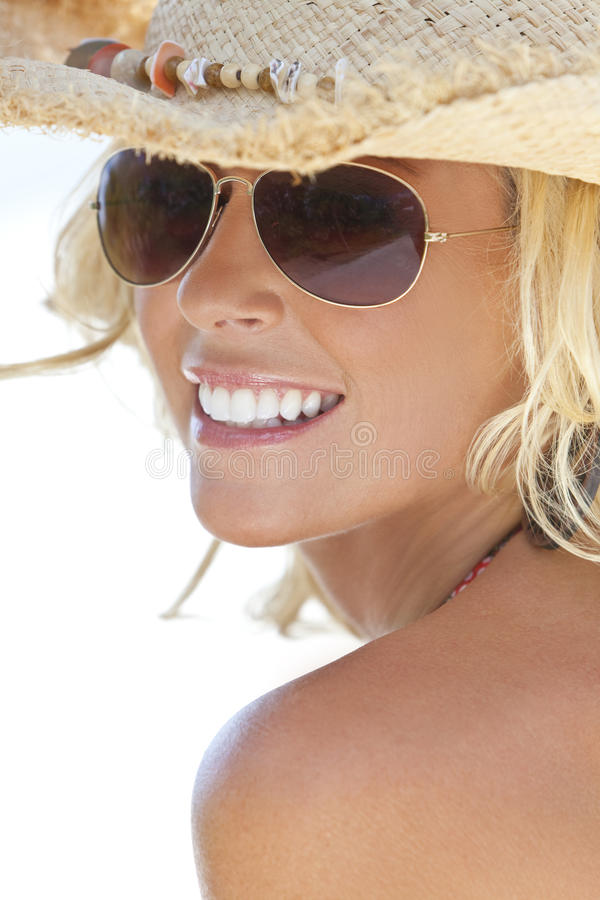 Download Blond Girl In Aviator Sunglasses & Cowboy Hat Stock Image - Image: 14856913