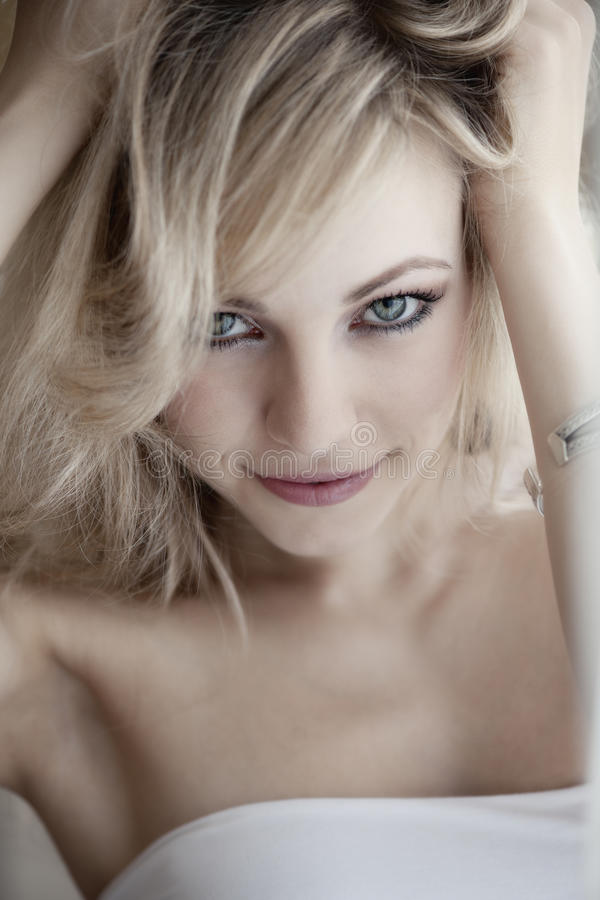Download Blond haired woman stock image. Image of blond, portrait - 15395539