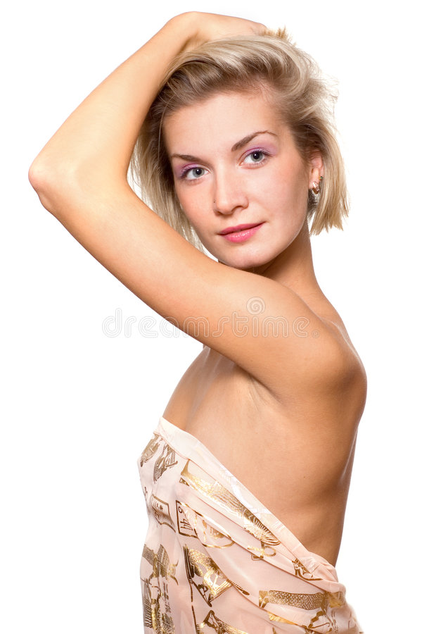 Sexy blond meisje royalty-vrije stock afbeelding