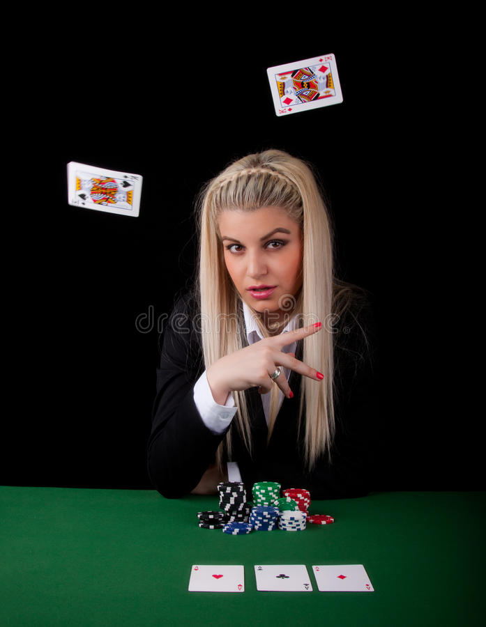 Download Blond Playing Poker Royalty Free Stock Photo - Image: 25436365