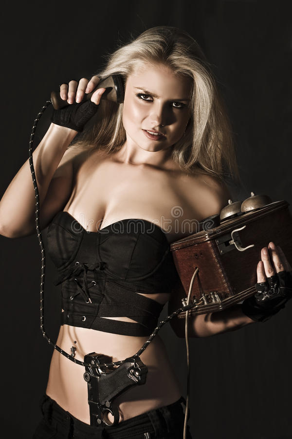 Download Blond Secret Agent stock image. Image of beauty, body - 23510729