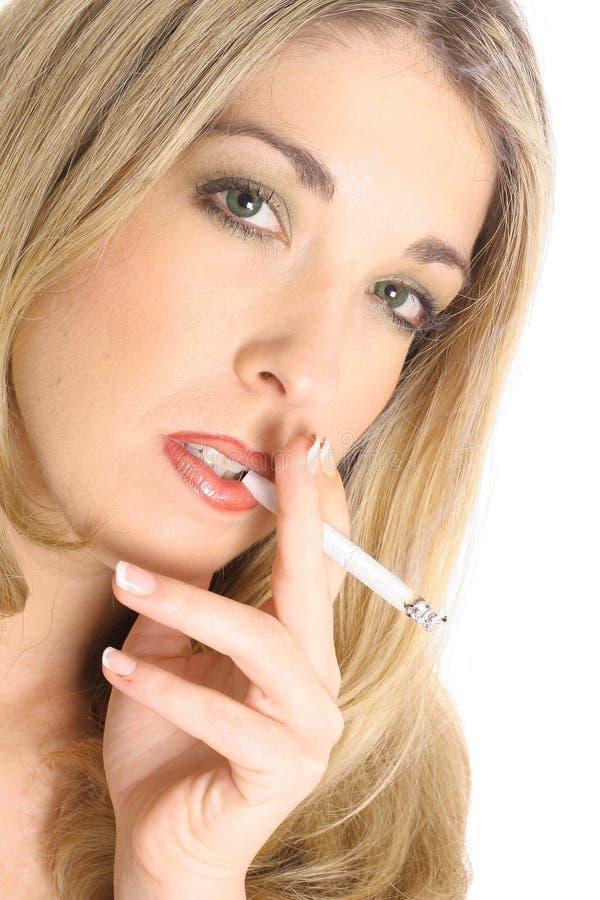 Blond Smoking Stock Images