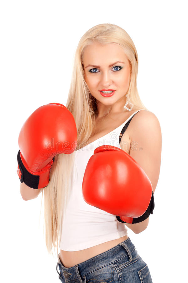 Sexy woman with boxing gloves