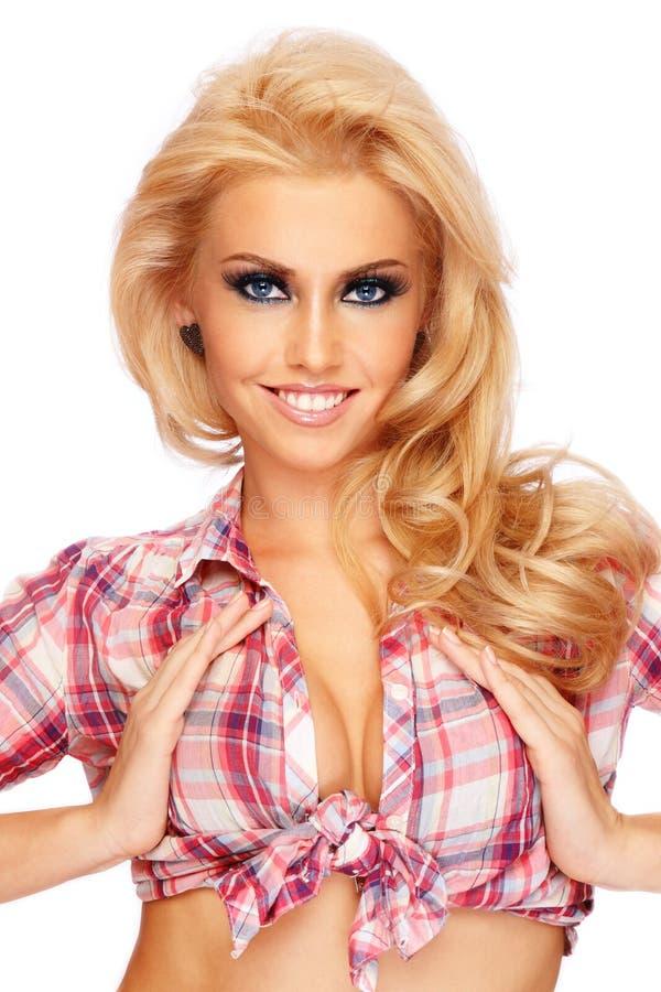 Sexy blonde royalty-vrije stock foto's