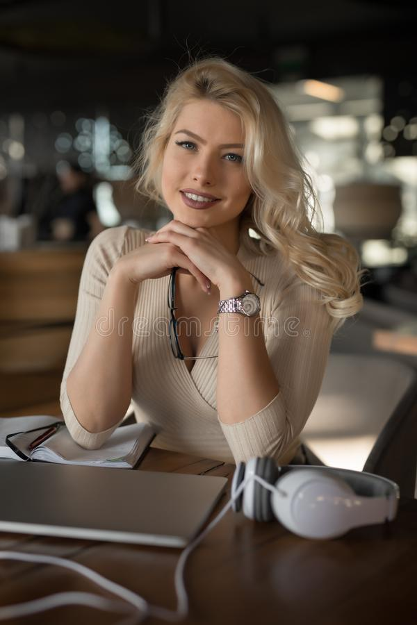 Free Sexy Blonde Businesswoman Portrait Stock Images - 144054644