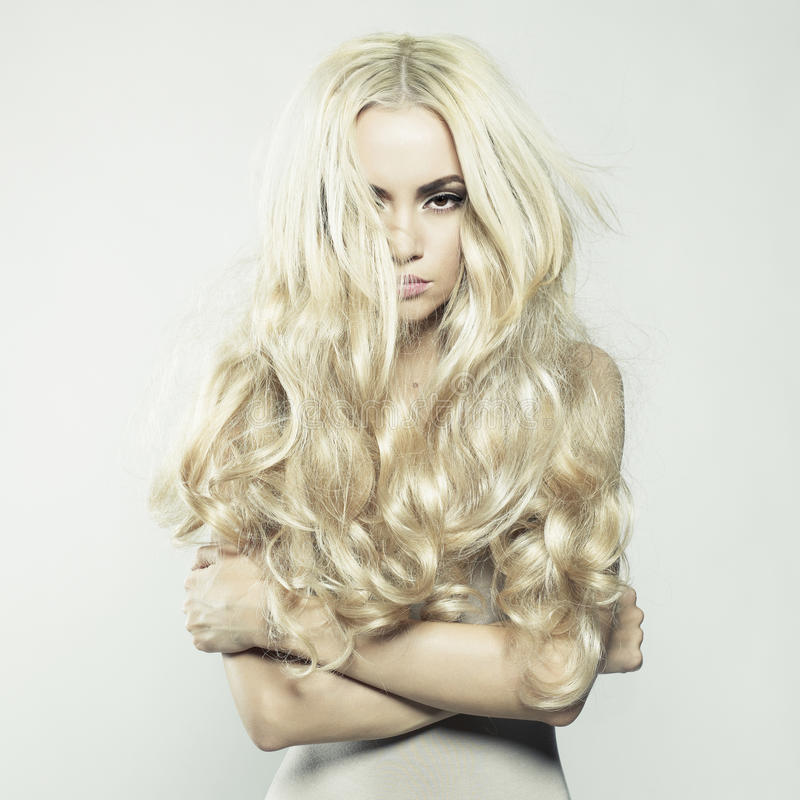 Download Blonde stock photo. Image of charm, look, long, healthy - 36032638