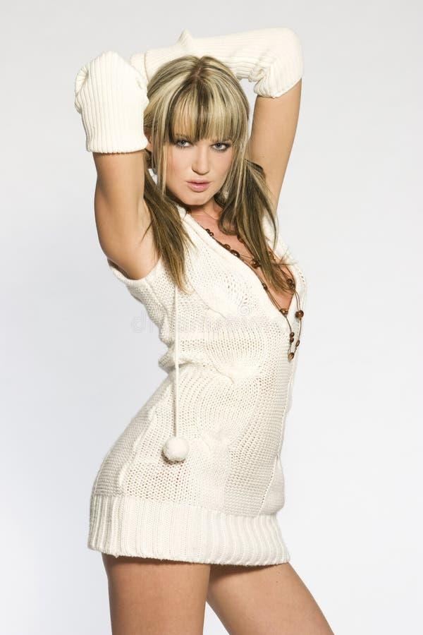 Sexy blonde meisje royalty-vrije stock fotografie
