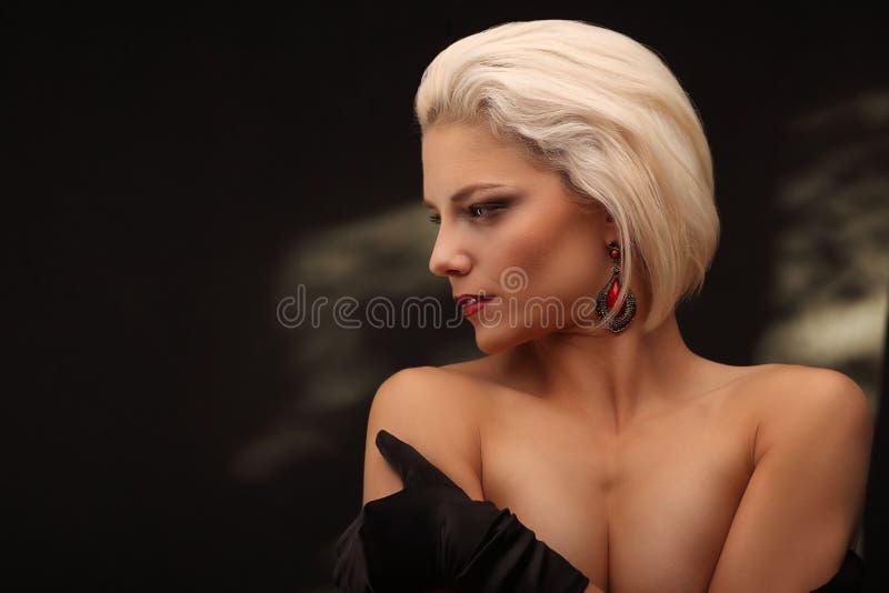 Blonde model naked 12