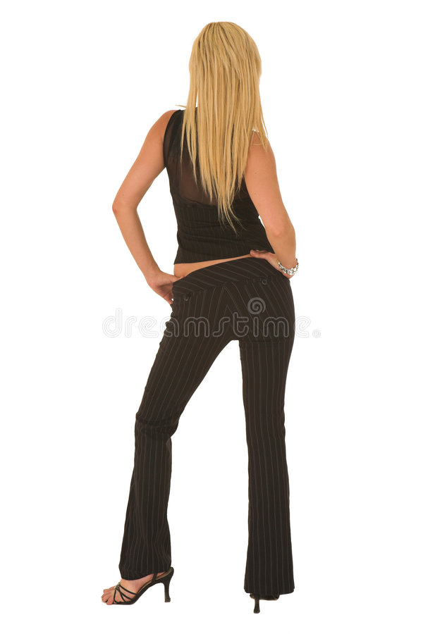 Sexy blonde onderneemster stock afbeeldingen