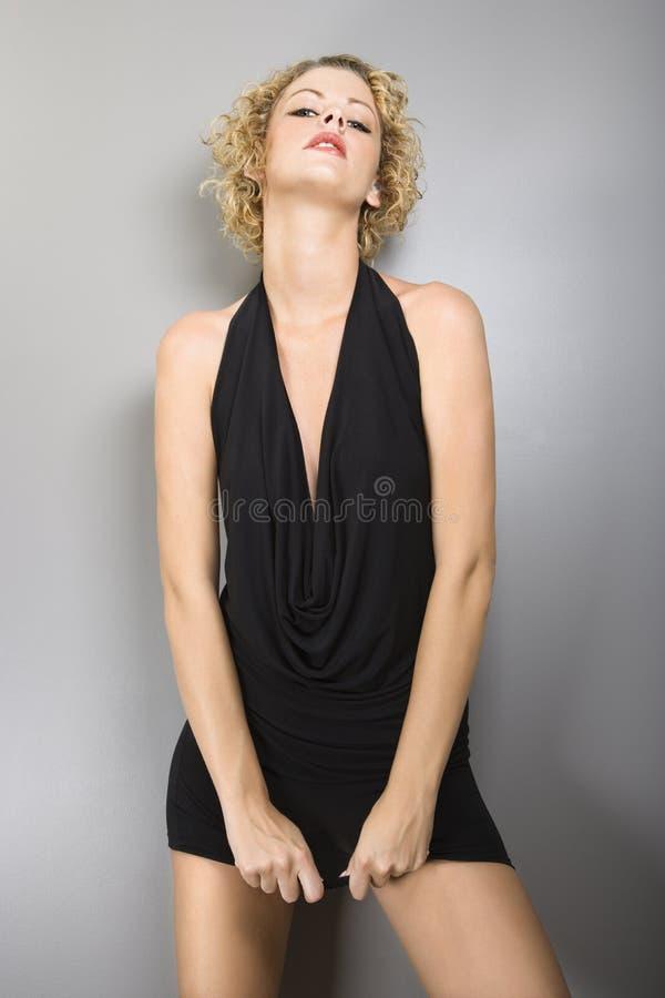 Sexy blonde vrouw. royalty-vrije stock foto's