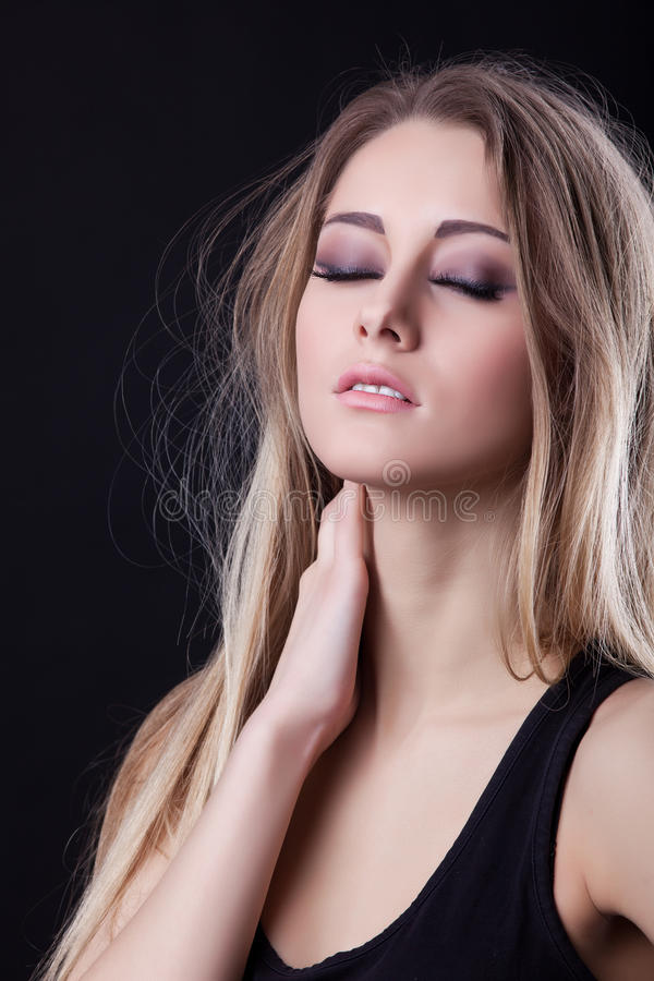 blonde young woman stock photography